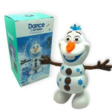 Snowman Olaf Electric Toys Dance Moves Light Music Cartoon Plastic Toy Boys and Girls Christmas Gifts - 1