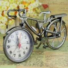 HOT SALE! Vintage Arabic Numeral Bicycle Shape Creative Table Alarm Clock Home Decor - 1