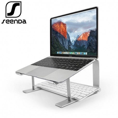 SeenDa Aluminum Laptop Stand Ergonomic Metal Cooling Notebook Holder for Mac book Air Pro Base Bracket for Laptop 10''-17''